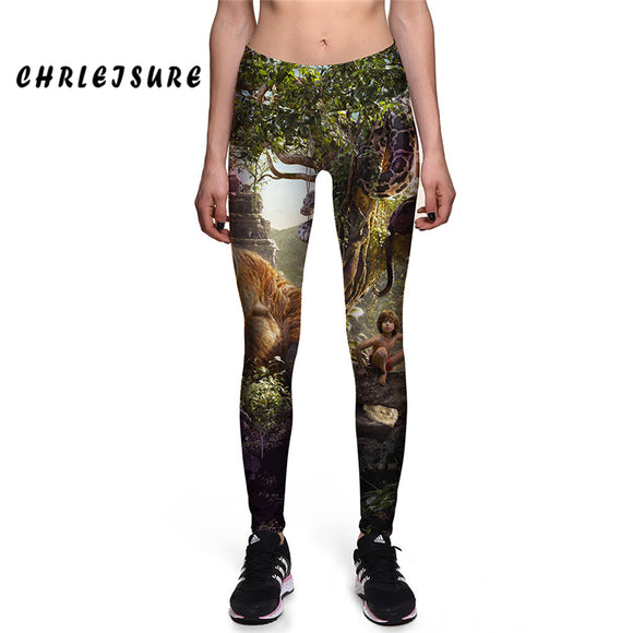 The Jungle Book Movie Digital Printing Leggings High Waist Slim Leggings