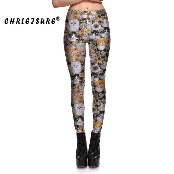 Cats Leggings High Waist Animal Print Leggings