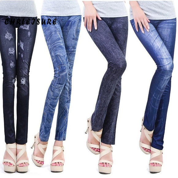 14 Colors Thin Denim Jeans Leggings Hole Pleated Stretch Slim Leggings