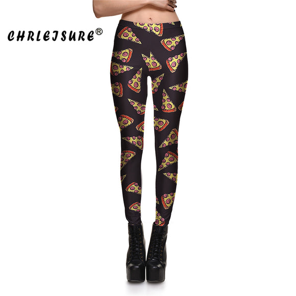 Pizza Leggings 3D Printing Stretch Leggings
