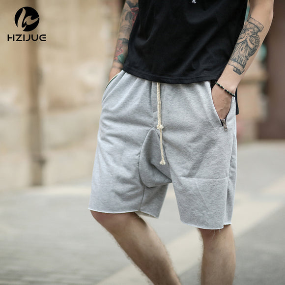 black/grey/khaki short stretch cotton sweat jogger shorts
