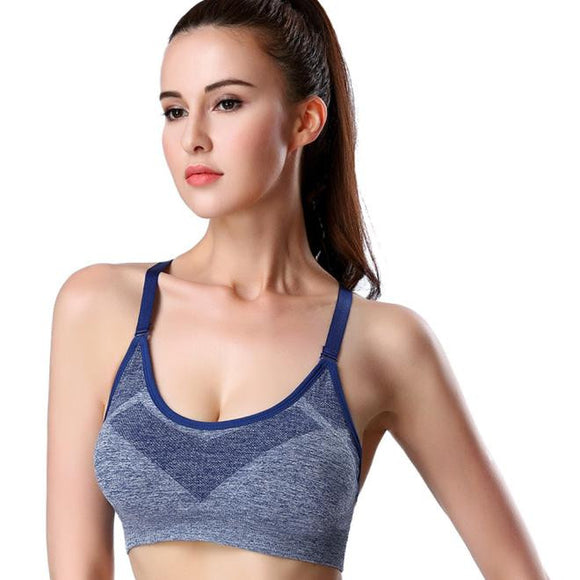 Sport Bra Gym Fitness Padded Tank Stretch Workout Bra