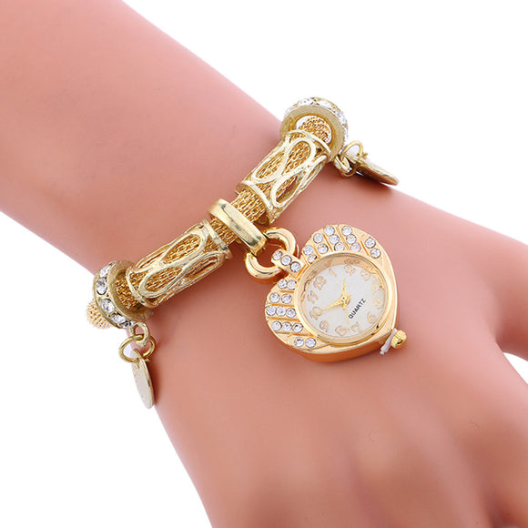 Fashion Luxury Women Watches Quartz Stainless Steel Bracelet Mesh Belt Wrist Watch