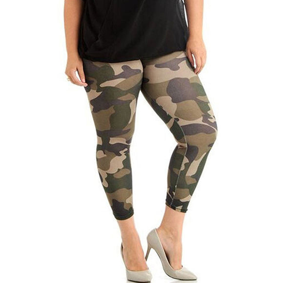 Women Plus Size Leggings Camouflage Fitness Yoga