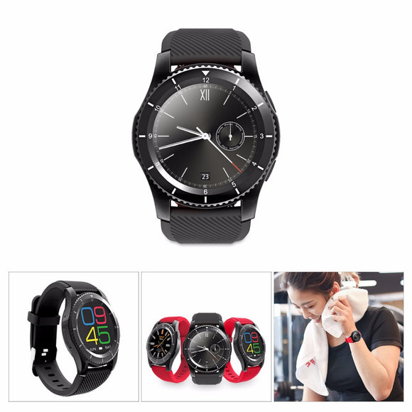 Rechargeable Bluetooth Wrist Smart Watch Phone Support SIM Heart Rate Monitor Anti-lost Pedometer for Android iOS iPhone