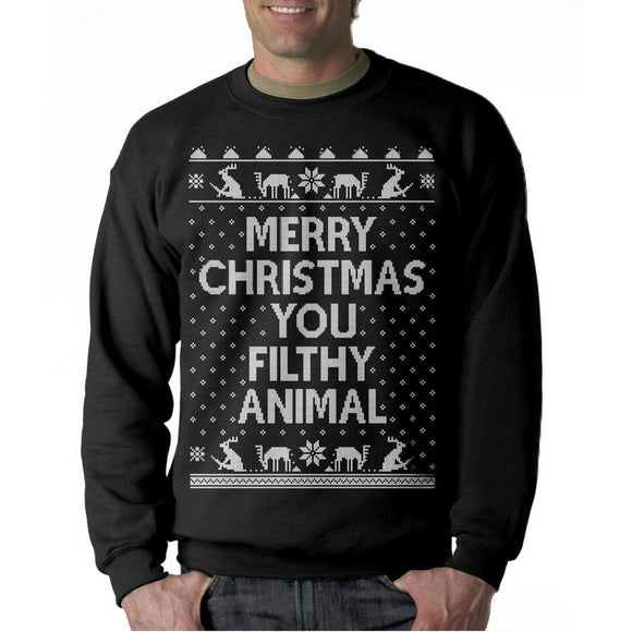 Men Merry Christmas Long Sleeve Cotton Casual Sweatshirt