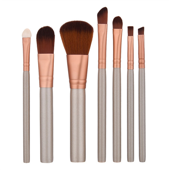 7 PCS  Makeup Brushes Makeup Tools with Aluminum Tube