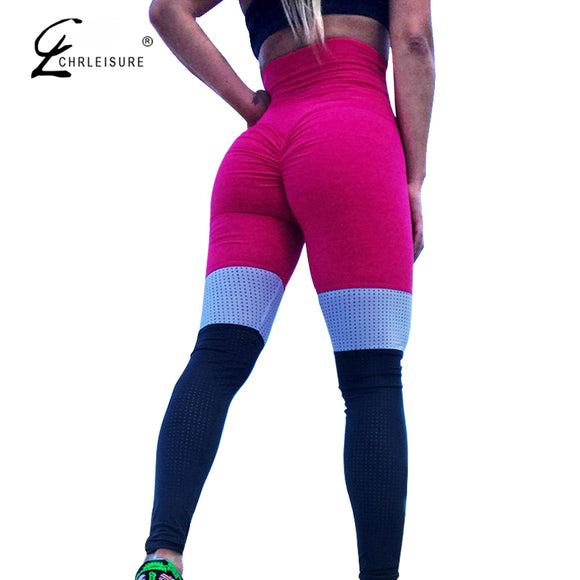High Waist Mesh Leggings Fitness Push Up Patchwork Legging