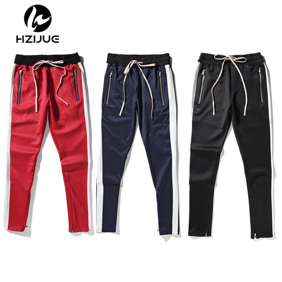5 colors track pants ankle zip tapered sweatpants zipper pocket
