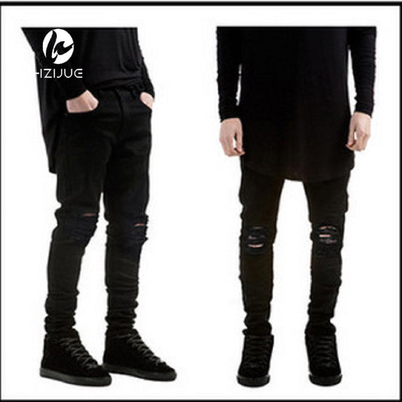 black jeans skinny ripped stretch swag biker jeans