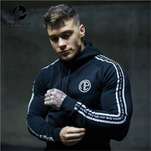 Fitness Hoodie Bodybuilding Sweatshirt Warm Cotton Sweatshirts