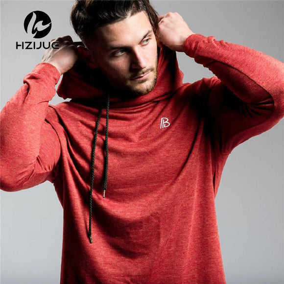 Fitness hoodies Cotton Blends pullover Sweatshirts