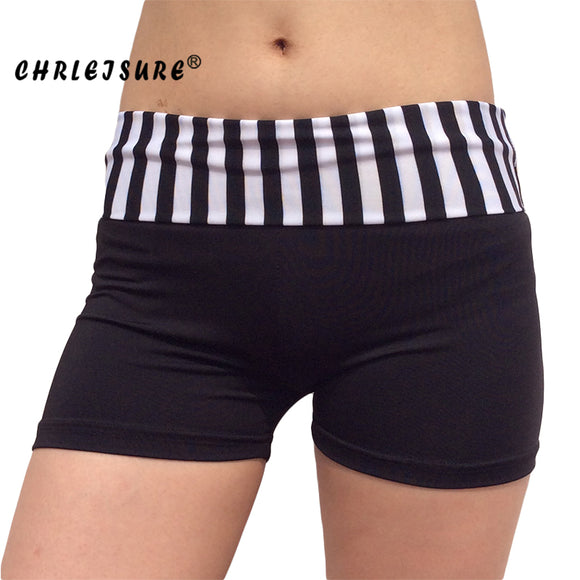 High Waist Shorts Solid Stitching Breathable Slim Fitness Shorts