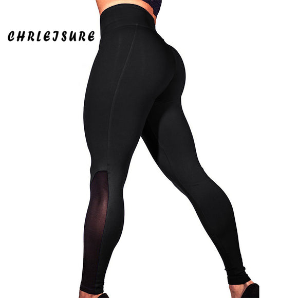 Mesh Push Up Leggings High Waist Patchwork Fitness Legging