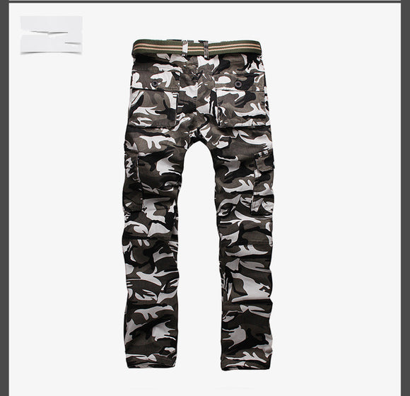 Camouflage Men multi Pocket Slim Straight Pants