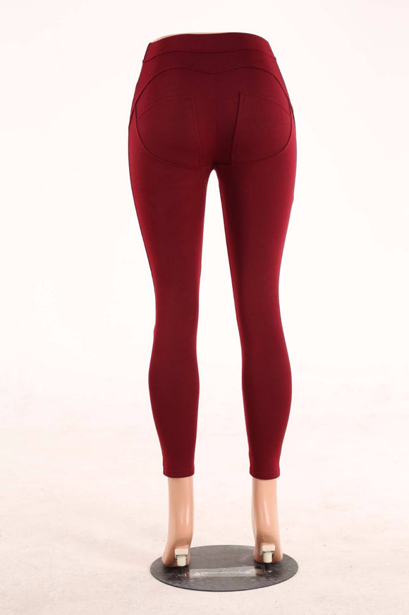 Legging Stretch Full-Length Mid-Waist Bodycon Pencil Pants