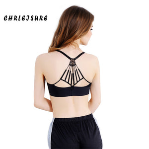 Spandex Round neck Backless Breathable Stretching Soft Sport Wear Bra