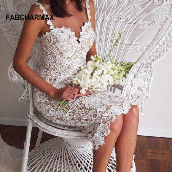 hollow out lace dress spaghetti strap white lace sling sleeveless black crochet dresses