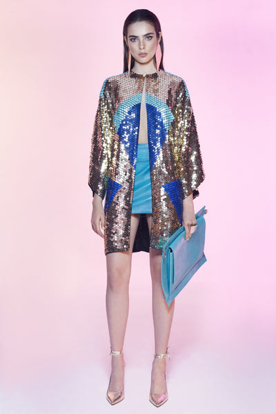 Neo Jacket Gold & Blue