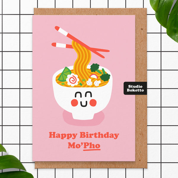 Happy Birthday Mo'pho' Card