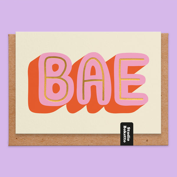 BAE Gold Foil Print Valentines Card