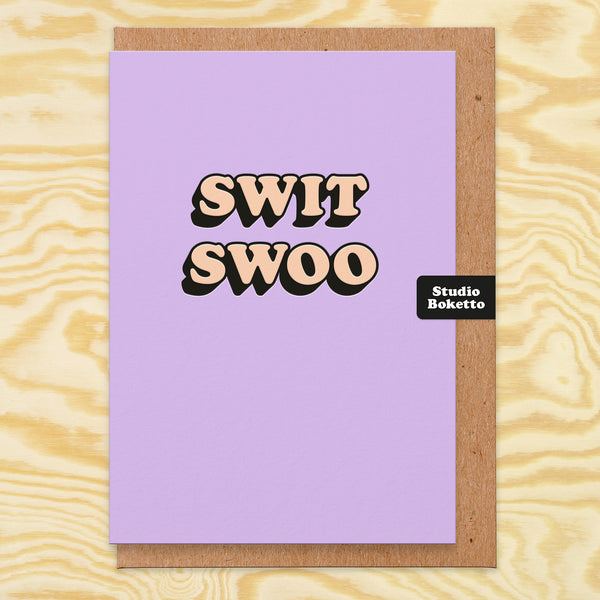 Swit Swoo (3D Emboss Print) Valentines Card