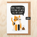All My Crap (Cat) Mothers Day Card