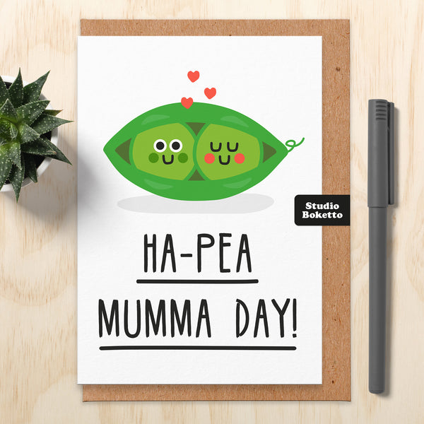 Ha-Pea Mothers Day Card