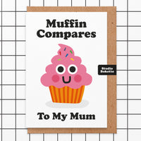 Muffin Compares Mothers Day Card