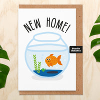 Goldfish New Home Card