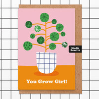 You Grow Girl Thinking of You Card