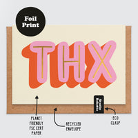 THX Gold Foil Print Thinking Of You Card