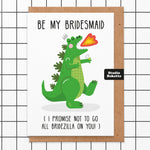 Bridezilla Bridesmaid Card