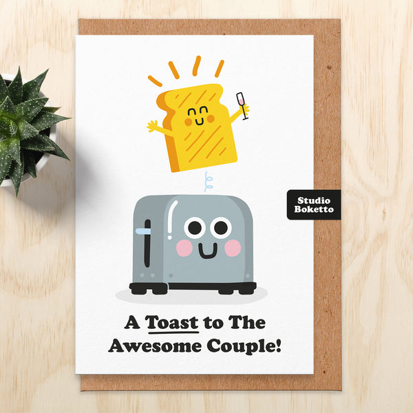 Toast Wedding Card