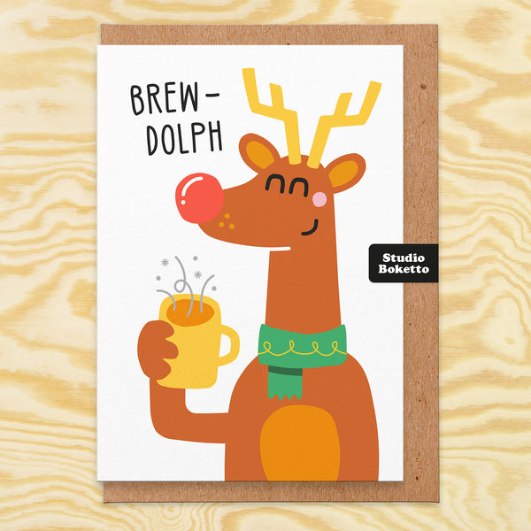 Brewdolph Christmas Card