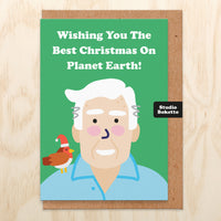 Planet Earth (David Attenborough) Christmas Card
