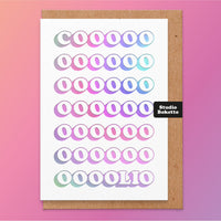 Coolio Holographic Foil Print Congratulations Card