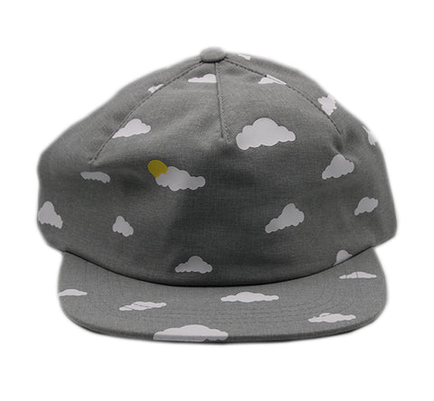 Sky Hat with Clouds Strapback Unstructured 1 Panel