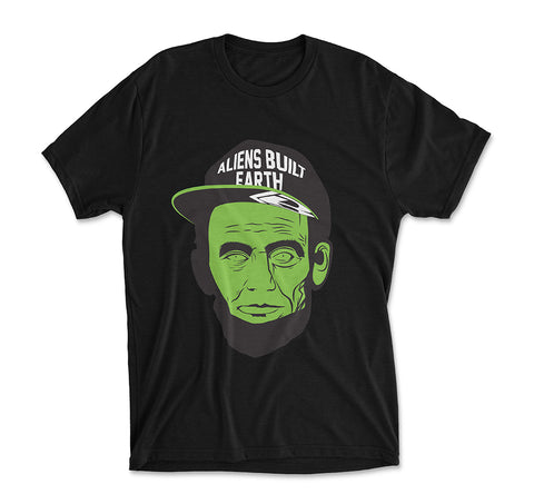 Aliens Built Earth Tee | Green-BLK - BOTWORLD