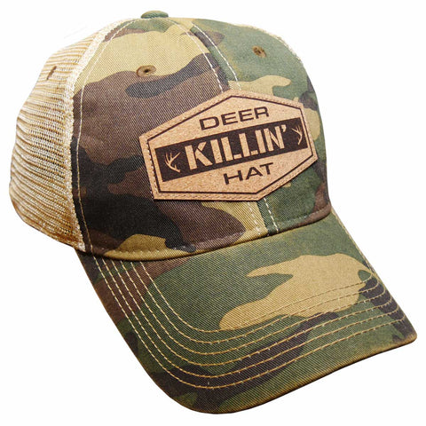 Deer Killin' Hat - Camo/Khaki