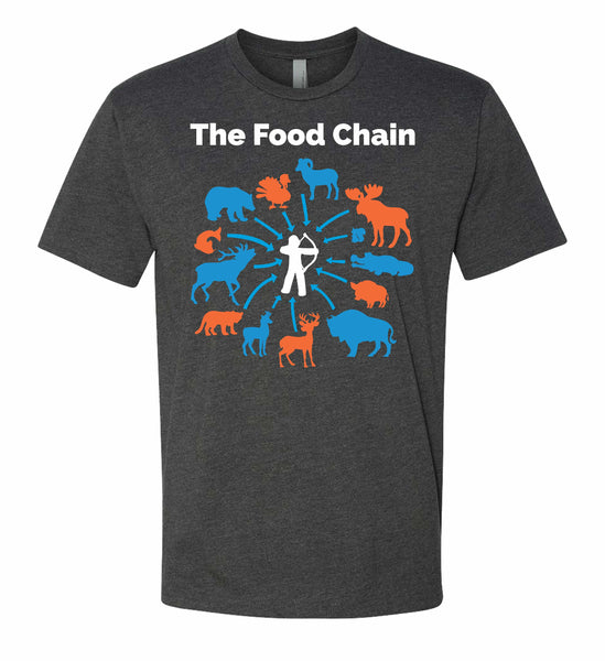 The Food Chain T-Shirt in Charcoal