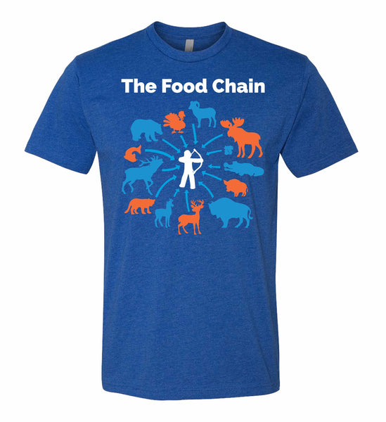 The Food Chain T-Shirt in Royal Blue