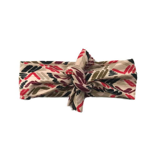 Red & Olive Ethnic Headband