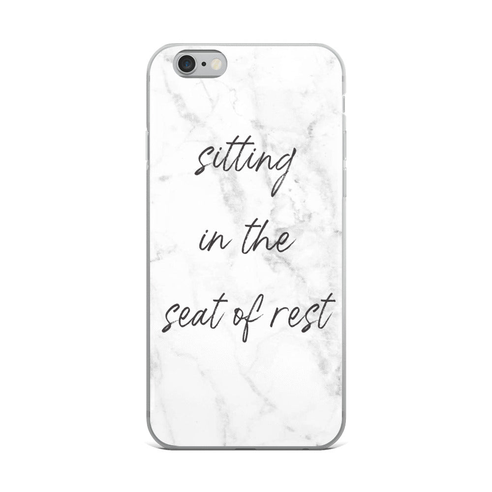 Sitting In The Seat Of Rest- iPhone Case