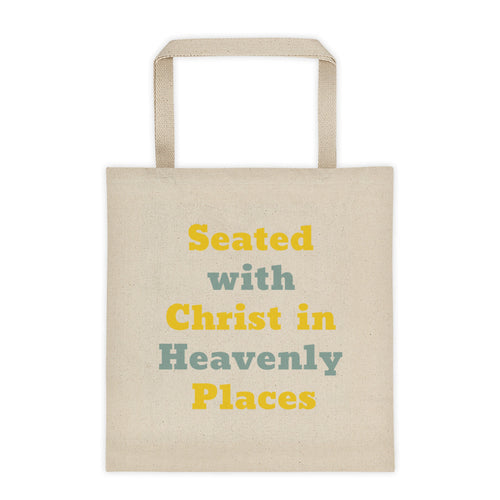 Seated With Christ In Heavenly Places- Tote bag