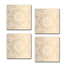 Multicolored Coaster Set | Set of 4 Wooden Coaster - SC004