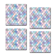 Multicolored Coaster Set | Set of 4 Wooden Coaster - SC010
