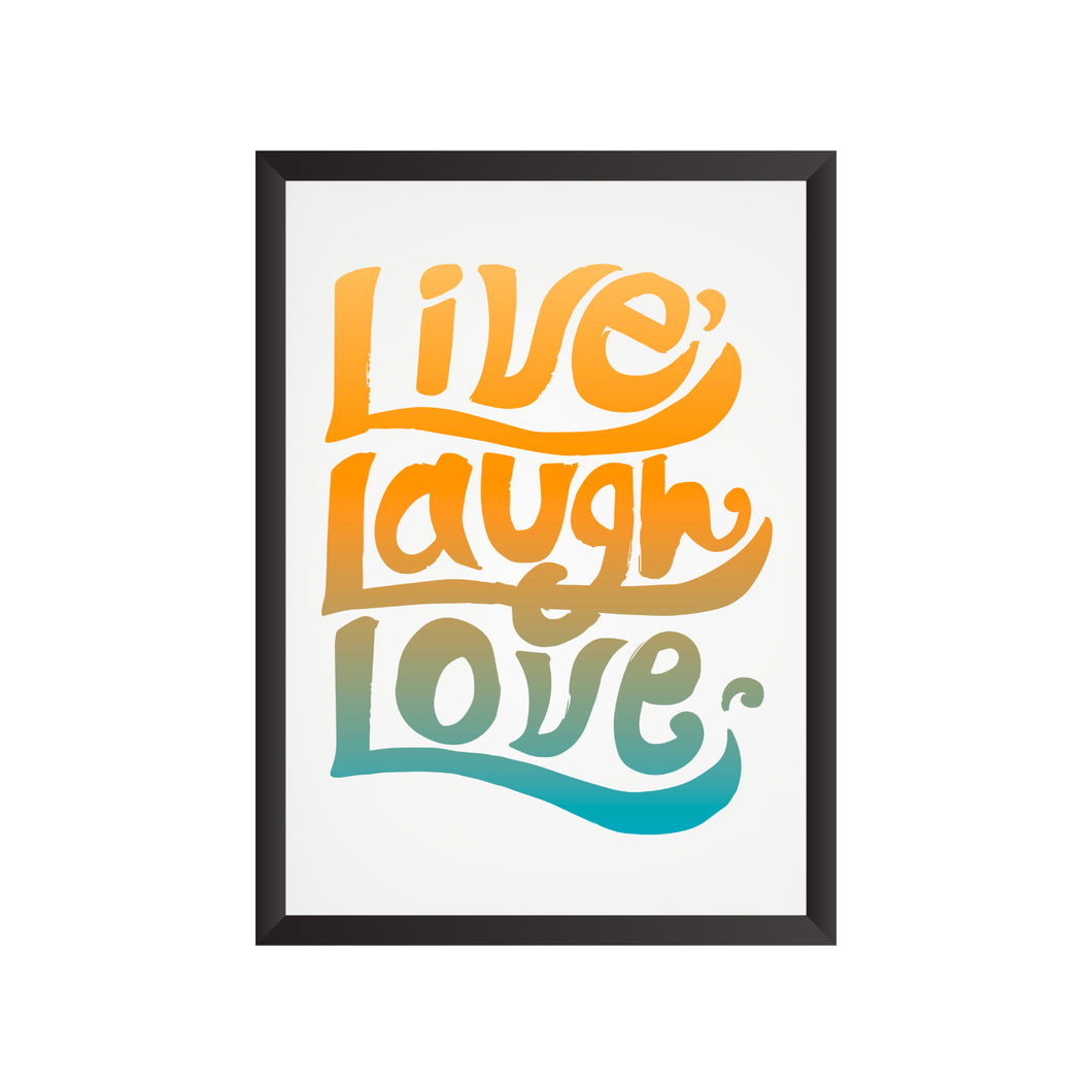 Live. Laugh. Love. Wall Frame | PF046