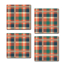 Multicolored Coaster Set | Set of 4 Wooden Coaster - SC007