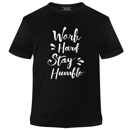 Work Hard Stay Humble Cotton T-shirt
